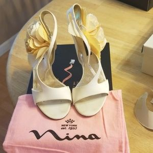 Nina New York white heels